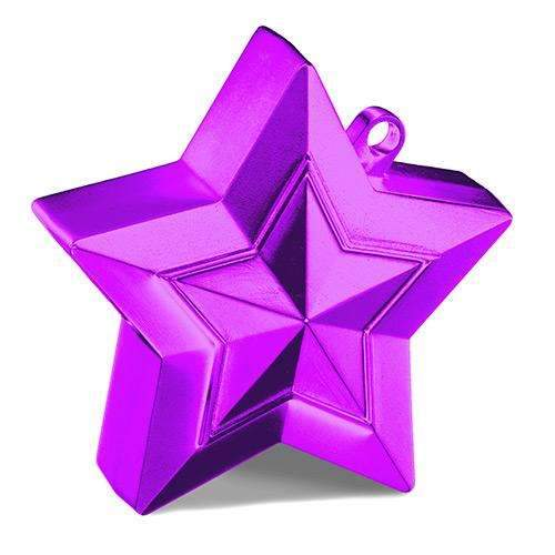 Star Balloon Weight - Purple