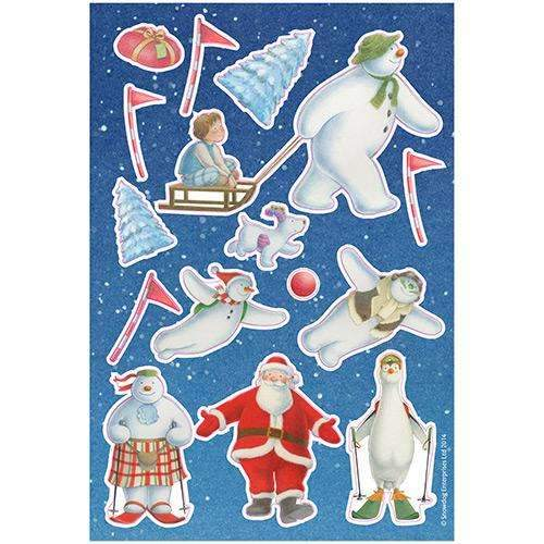 Christmas Snowman and Snowdog Party Tableware Paper Dinner Plates Pack of 8