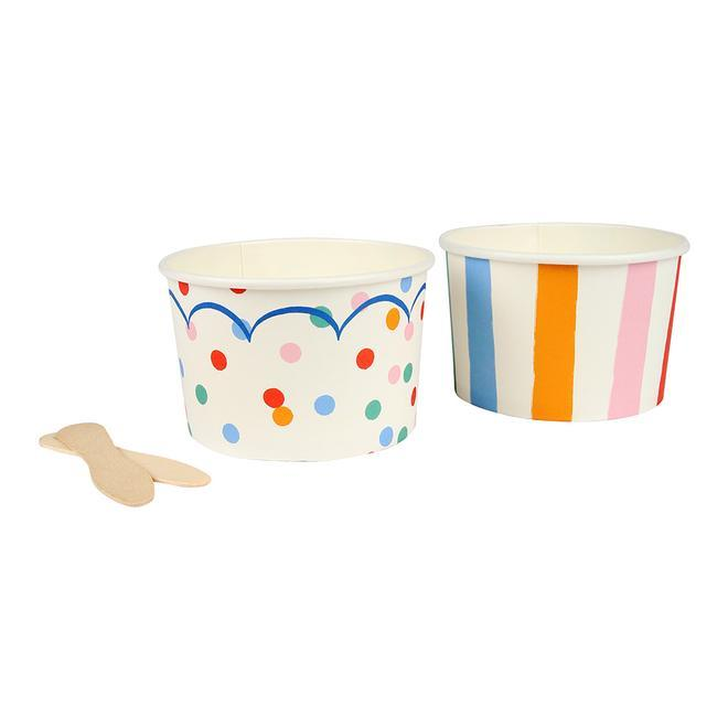 Toot Sweet Spotty Ice Cream Bowls - Pack of 8