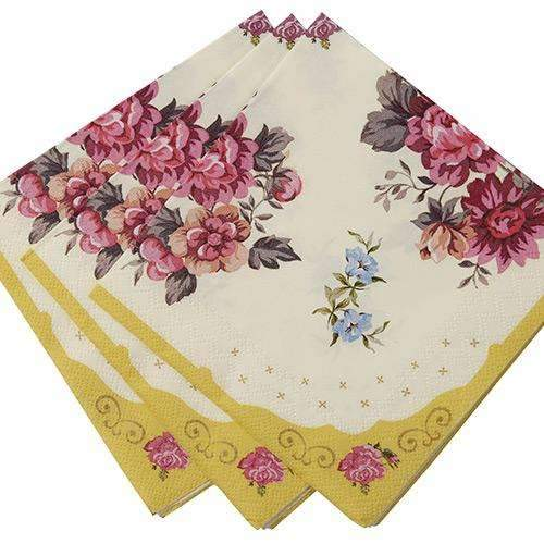 Truly Scrumptious Floral Cocktail Napkins - Pack of 30