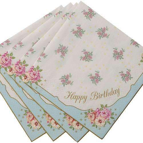 Truly Scrumptious 'Happy Birthday' Napkins - Pack of 20