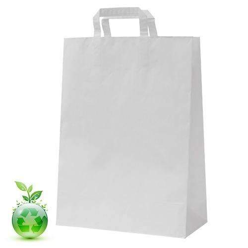 White Recycled Paper Bag 25cm
