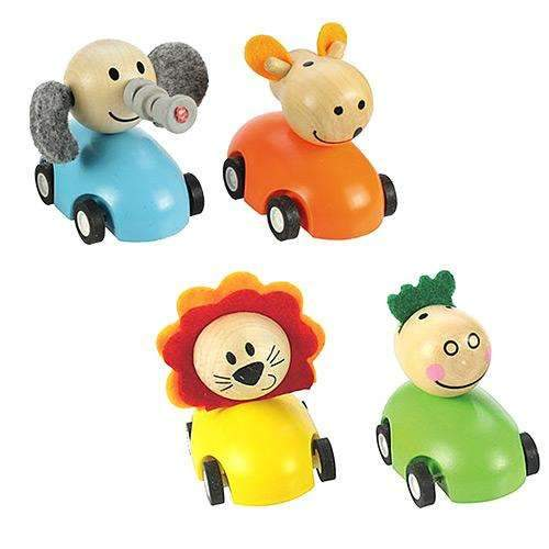 Wooden Pull Back Racing Animal