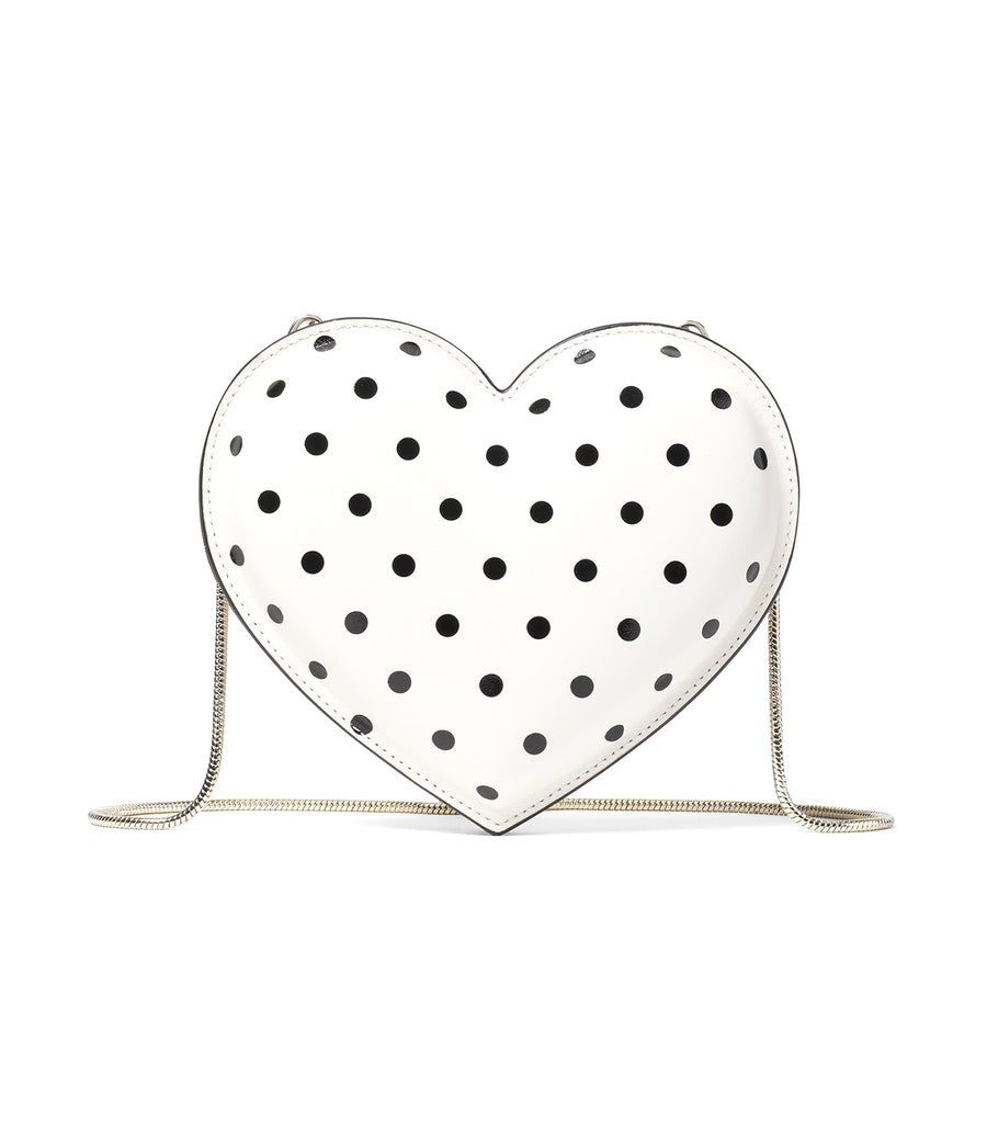 3D Heart Crossbody Parchment Cabana Dot