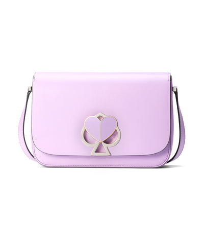 Nicola Twistlock Medium Shoulder Bag Iris Bloom