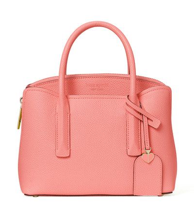 Margaux Mini Leather Satchel Lychee