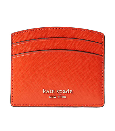 Spencer Leather Cardholder Tamarillo
