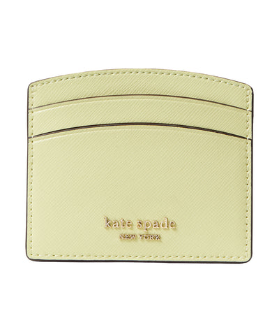 Spencer Leather Cardholder Lemon Sorbet