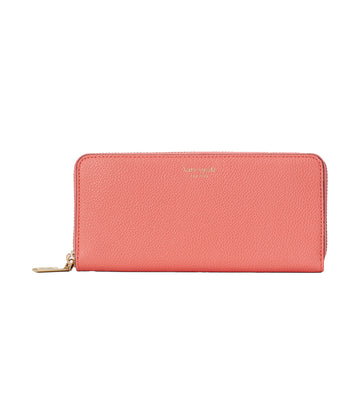 Margaux Slim Continental Leather Wallet Lychee