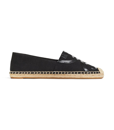 Poppy Canvas Espadrille - Black