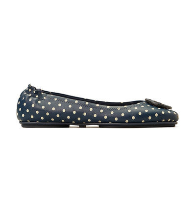 Tory Burch Minnie Printed Travel Ballet Flat - Classic Dots Navy