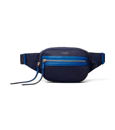 Perry Nylon Color-Block Belt Bag Royal Navy