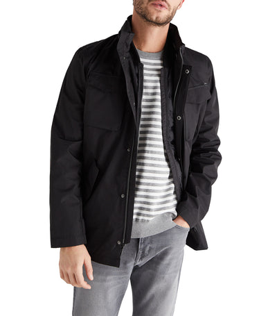 Men All Weather Cominable Woven Jacket Black