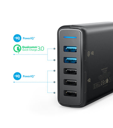 PowerPort Speed 5 Ports Black