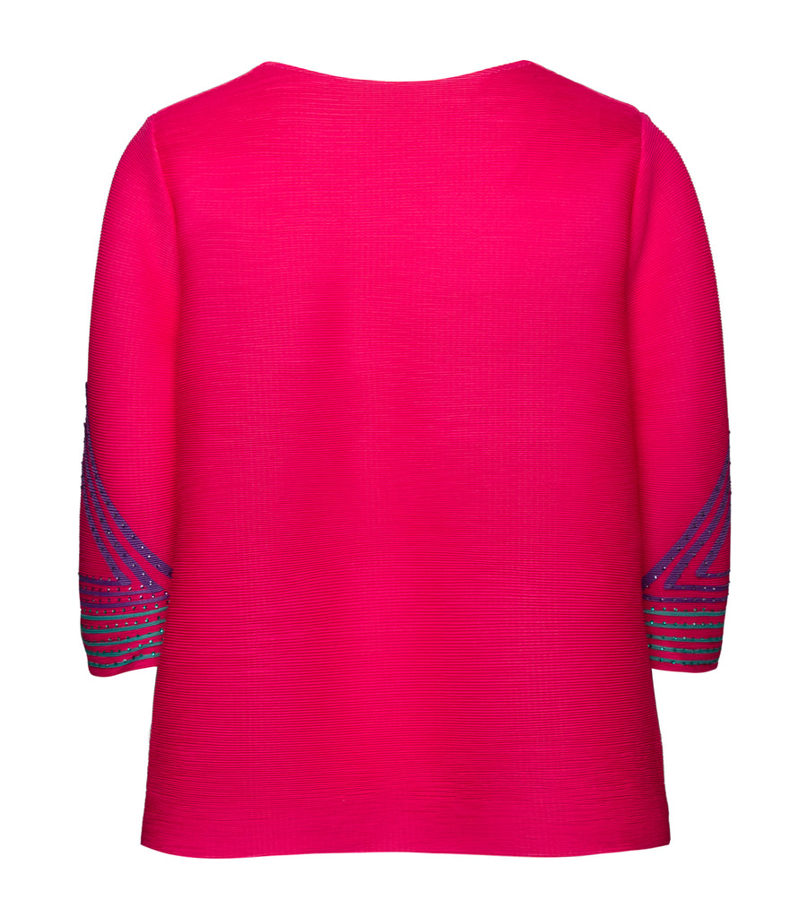 criselda rita pleated blouse fuschia