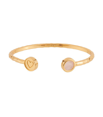 les néréides lucky bangle with love stone and crown