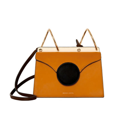 danse lente mini phoebe crossbody bag pumpkin and black