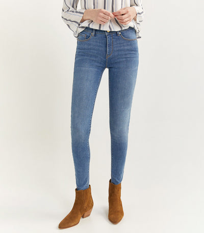 Body Shape Denim Trousers Blue