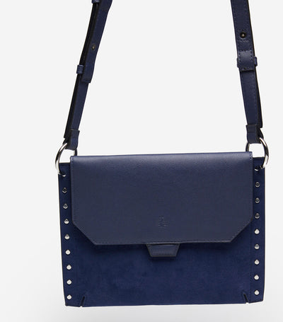 Studded Crossbody Bag Blue
