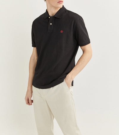 Essential Pique Polo Shirt Black
