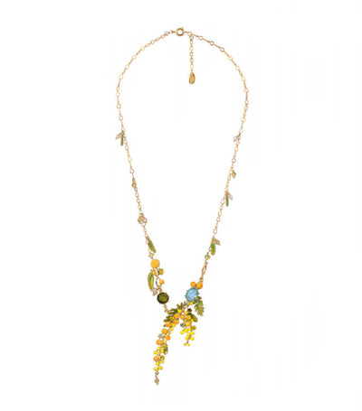 les néréides mimosa branch and fern necklace