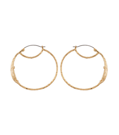 les néréides sage leaf hoop earrings