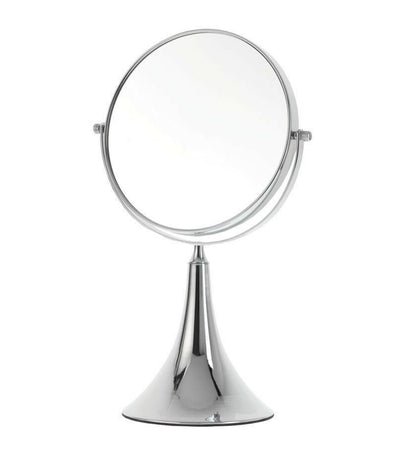 danielle creations small vanity mirror with chrome finish with 5x magnification