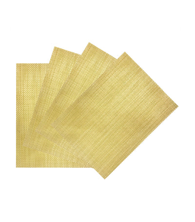 "benson mills yellow longport place mat set of 4 (13""x18"")"