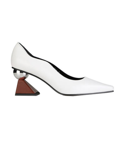 Paola Pumps White and Brick Oven
