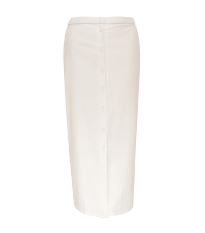 jill by jojie lloren sunflower long buttondown skirt off-white