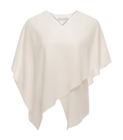 lady rustan leica asymmetrical v-neck blouse white