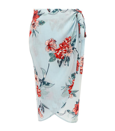 lotus resortwear teresa floral wrap skirt