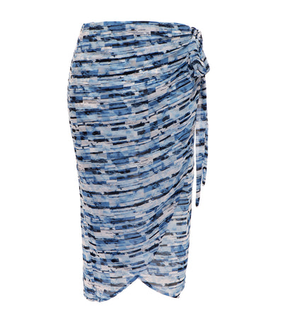 lotus resortwear teresa graphic wrap skirt