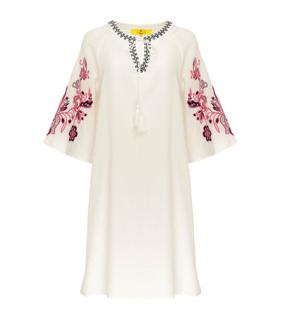 lotus resortwear kit embroidered tunic white
