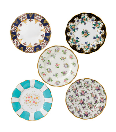 royal albert 100 years of royal albert 5-piece plate set (1900-1940)