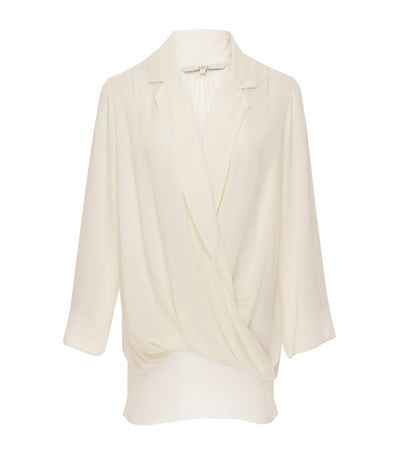 jill by jojie lloren tansy twisted blouse cream