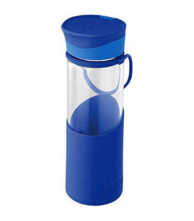 Aladdin Enjoy Glass Water Bottle 500ml - Blue
