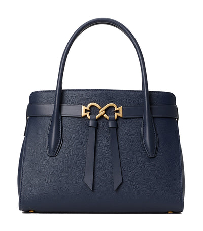 Toujours Medium Leather Satchel Blazer Blue