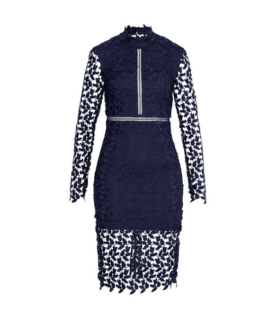 Alberta Lace Dress Navy