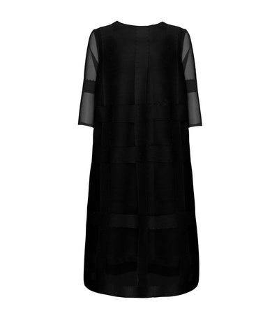 criselda sheryl pleated dress black