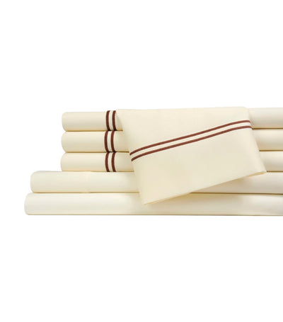 fifth avenue ivory sheet set - queen