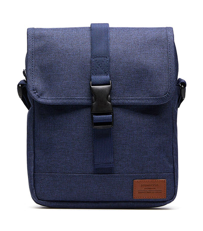 Medium Nylon Melange Bag Blue