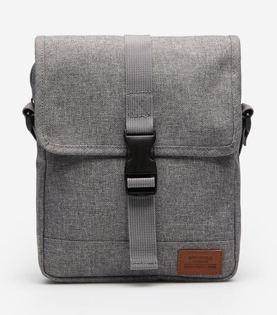 Medium Nylon Melange Bag Gray