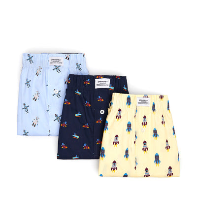 Pack of Three Boxers Space