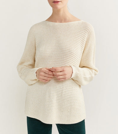Lurex Knit Sweater Ivory