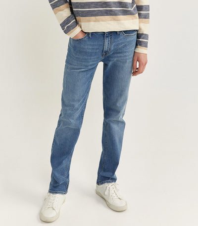 Slim Fit Medium Washed Denim Pants Medium Blue