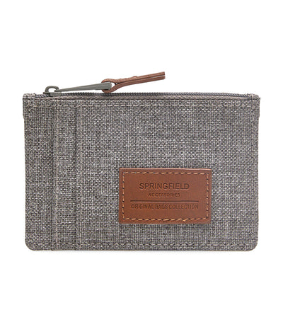 Nylon Melange Coin Purse Gray