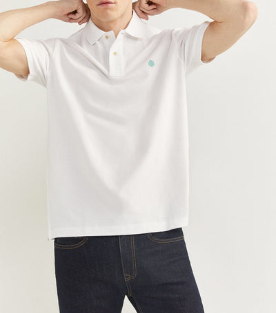 Essential Pique Polo Shirt White