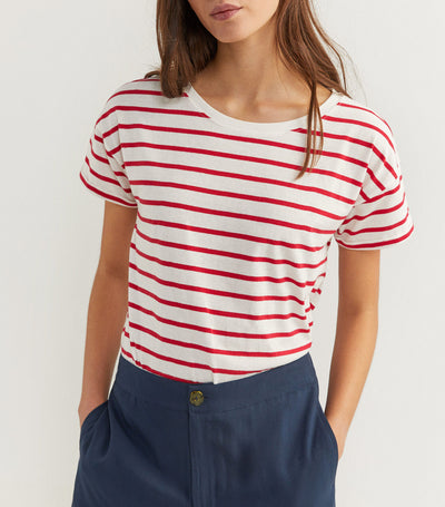 Striped T-Shirt Red and White