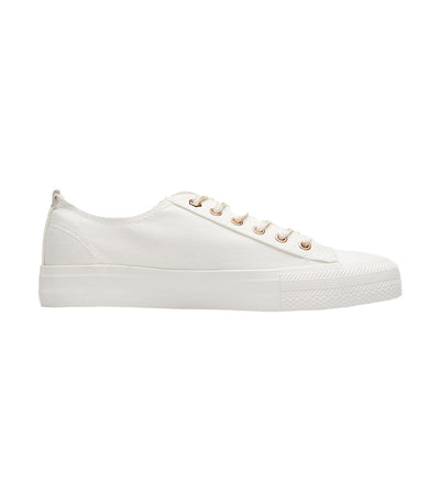 Women's Canvas Low Cut Sneakers White